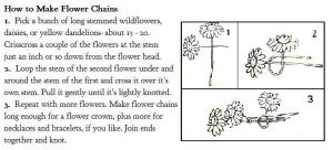 how to make flower chains