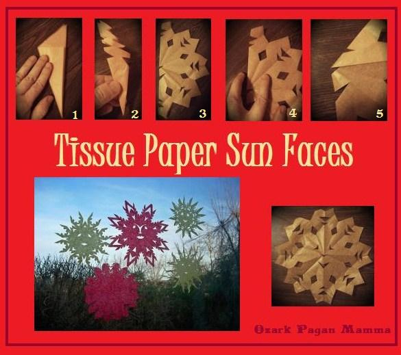 tissue paper sun faces