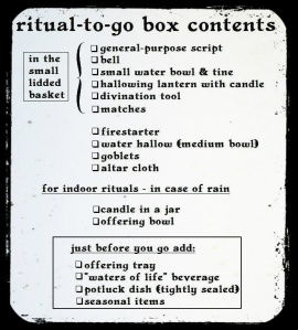 ritual-to-go box contents