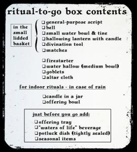ritual-to-go box contents