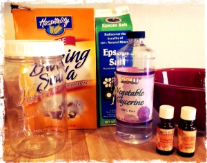 bath crystal supplies