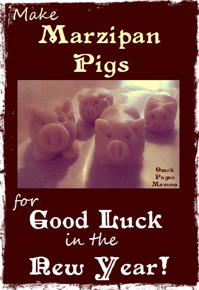 Good Luck Marzipan Pigs