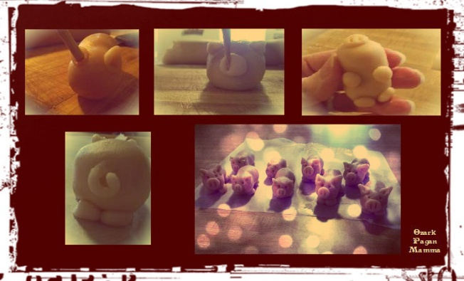 marzipan pig assembly