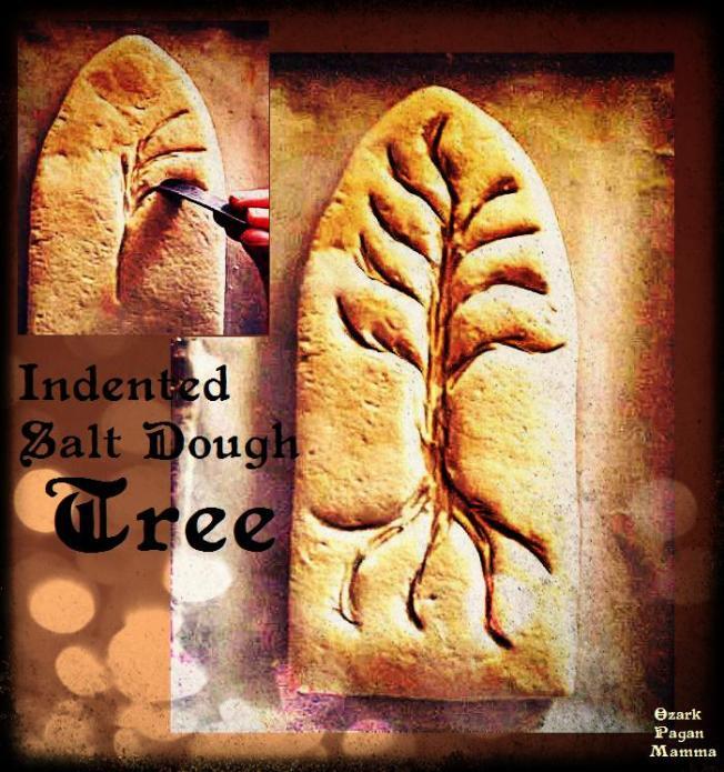 indented salt dough tree