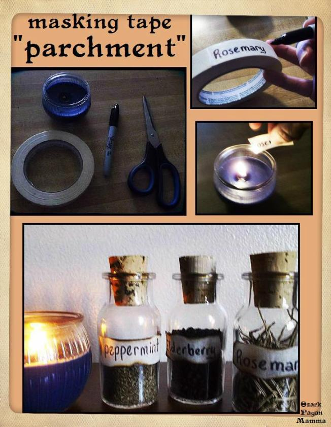 masking tape parchment