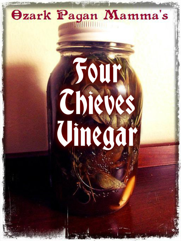 Ozark Pagan Mamma's Four Thieves Vinegar