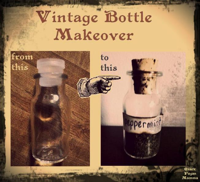 vintage bottle makeover