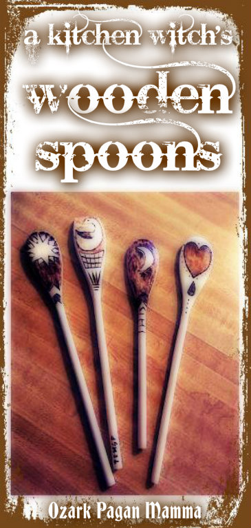 a kitchen witch's wooden spoons