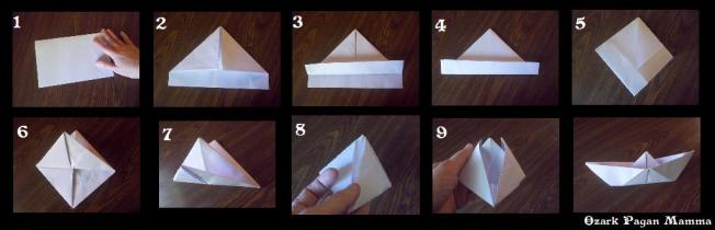 paper boat instructions