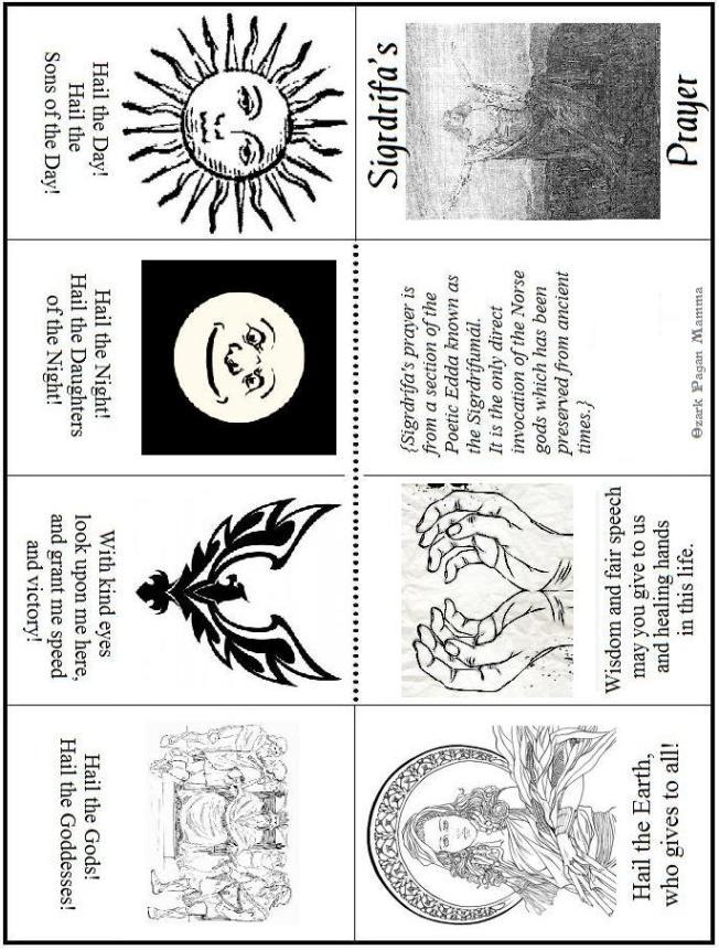 Sigrdrifa prayer magic book