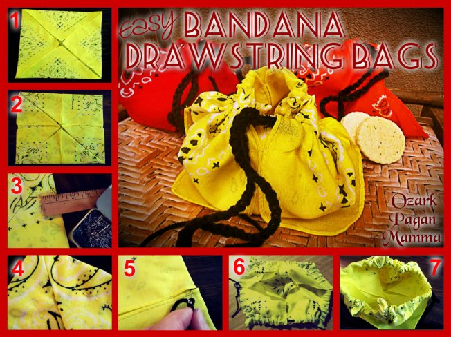 easy bandana drawstring bags