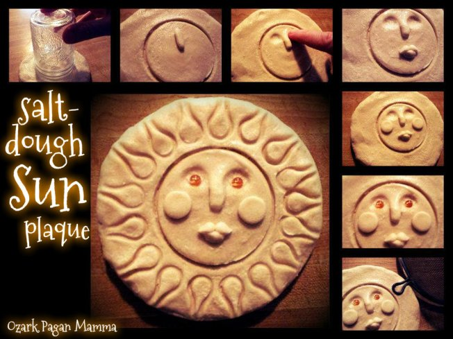 salt dough sun plaque