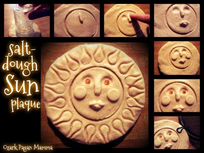 salt dough sun plaque