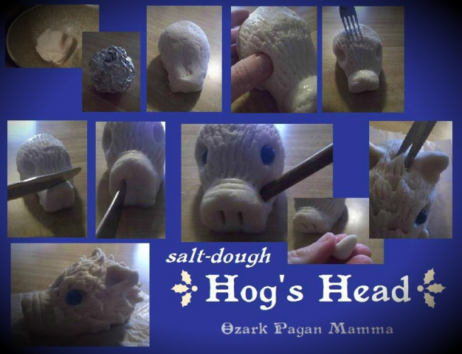 salt dough hog's head