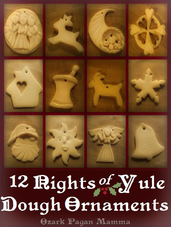 12 Nights of Yule Salt Dough Ornaments | 50 Awesome DIY Yule Decorations and Craft Ideas You Can Make for the Winter Solstice