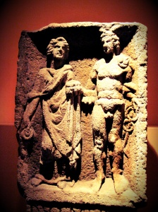 Relief of Mercury and Rosmerta from Eisenberg in present day Rhineland-Palatinate.